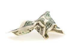 Zerknitterter Dollar Lizenzfreie Stockfotos