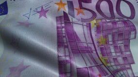 Zerknitterter fünfhundert Euro Bill Banknote Obverse