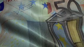 Zerknitterter fünfzig Euro Bill Banknote Obverse