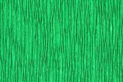 Zerknitterter grüner Hintergrund der Wellpappe Lizenzfreies Stockbild