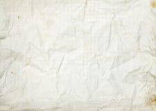 Zerknitterter leerer weißer alter gezeichneter Papierhintergrund Lizenzfreie Stockfotografie