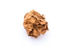 Zerknitterter Papierball Stockfotografie