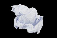 Zerknitterter Papierhintergrund Stockfotografie