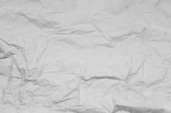 Zerknitterter Papierhintergrund Schwarzweiss Stockbild