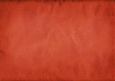 Zerknitterter roter Papierhintergrund Stockbilder