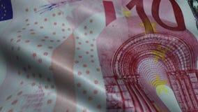 Zerknitterter zehn Euro Bill Banknote Obverse