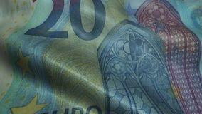 Zerknitterter zwanzig Euro Bill Banknote Obverse