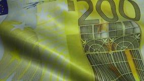 Zerknitterter zweihundert Euro Bill Banknote Obverse