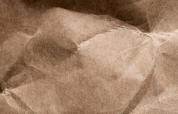 Zerknittertes Braunes Packpapier Lizenzfreie Stockfotografie