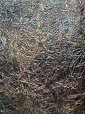 Zerknittertes kupfernes Weißblech mit Oxidation maserte Hintergrund stockbilder