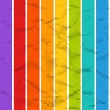 Zerknittertes nahtloses Papiermuster des Vektors Regenbogen Lizenzfreie Stockfotografie