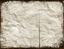 Zerknittertes Papier Stockfoto