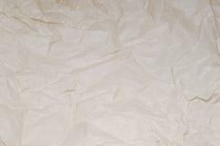Zerknittertes Papier der Beschaffenheit Braun Stockbild
