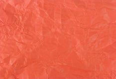 Zerknittertes rotes Papier Stockbild