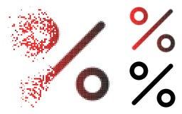 Zerlegter Dot Halftone Percent Icon stock abbildung