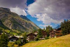 Zermat i Schweiz Royaltyfria Foton