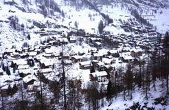 Zermatt άνωθεν Στοκ Φωτογραφίες