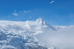 Zermatt в Швейцарии Стоковая Фотография