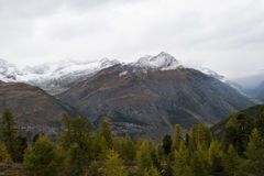 Zermatt, Швейцария Стоковая Фотография RF