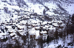 Zermatt from Above Stock Photos