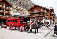 Zermatt di visita, Svizzera 2 Fotografia Stock