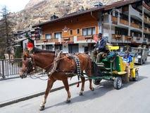 Zermatt di visita, Svizzera 1 Fotografia Stock