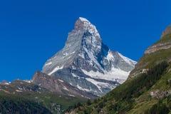Zermatt, die Schweiz - der ikonenhafte Berg Das Matterhorn stockbilder