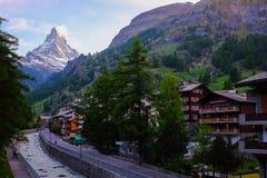Zermatt e Matterhorn Imagem de Stock Royalty Free