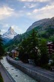 Zermatt ed il Cervino Fotografia Stock Libera da Diritti