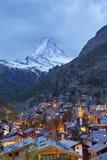 Zermatt et Matterhorn. Image libre de droits