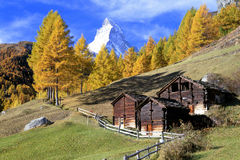 Zermatt with the famous Matterhorn Stock Image