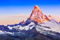 Zermatt, hôtels suisses de Switzerland photos stock