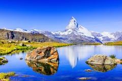 Zermatt, hôtels suisses de Switzerland photographie stock libre de droits