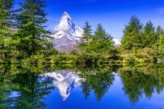 Zermatt, hôtels suisses de Switzerland photo libre de droits
