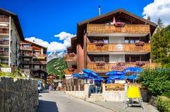 Zermatt, hotel svizzeri in Zermatt, Svizzera di Switzerland Immagini Stock Libere da Diritti