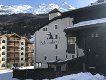 Zermatt Hotel, Switzerland Stock Photography