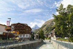 Zermatt, hoteles suizos en Zermatt, Suiza de Switzerland Fotos de archivo