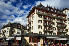 Zermatt Hotels Switzerland Royalty Free Stock Photos
