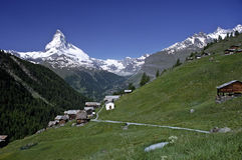 zermatt matterhorn Швейцарии Стоковые Изображения RF
