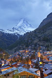 Zermatt and Matterhorn. Royalty Free Stock Image