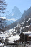 Zermatt. Mountain Matterhorn in alpe suisse Royalty Free Stock Image