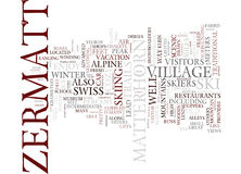 Zermatt A Must See In The Swiss Alps Text Background Word Cloud Concept Royalty Free Stock Photography