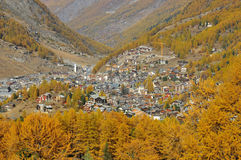 Zermatt nella caduta Immagini Stock