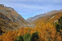 Zermatt nella caduta Fotografia Stock