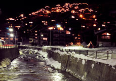 Zermatt at night Royalty Free Stock Images