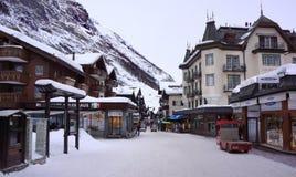 Zermatt's Main Street, Switzerland Royalty Free Stock Images