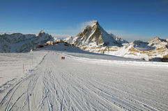 Zermatt skiing Royalty Free Stock Photos