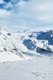 Zermatt snow landscape Royalty Free Stock Images