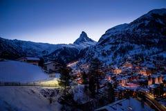Zermatt, Suisse, Matterhorn, station de sports d'hiver image stock