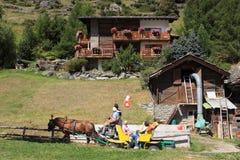 Zermatt in summer. The view of alpine resort Zermatt in Valais, Switzerland royalty free stock photography